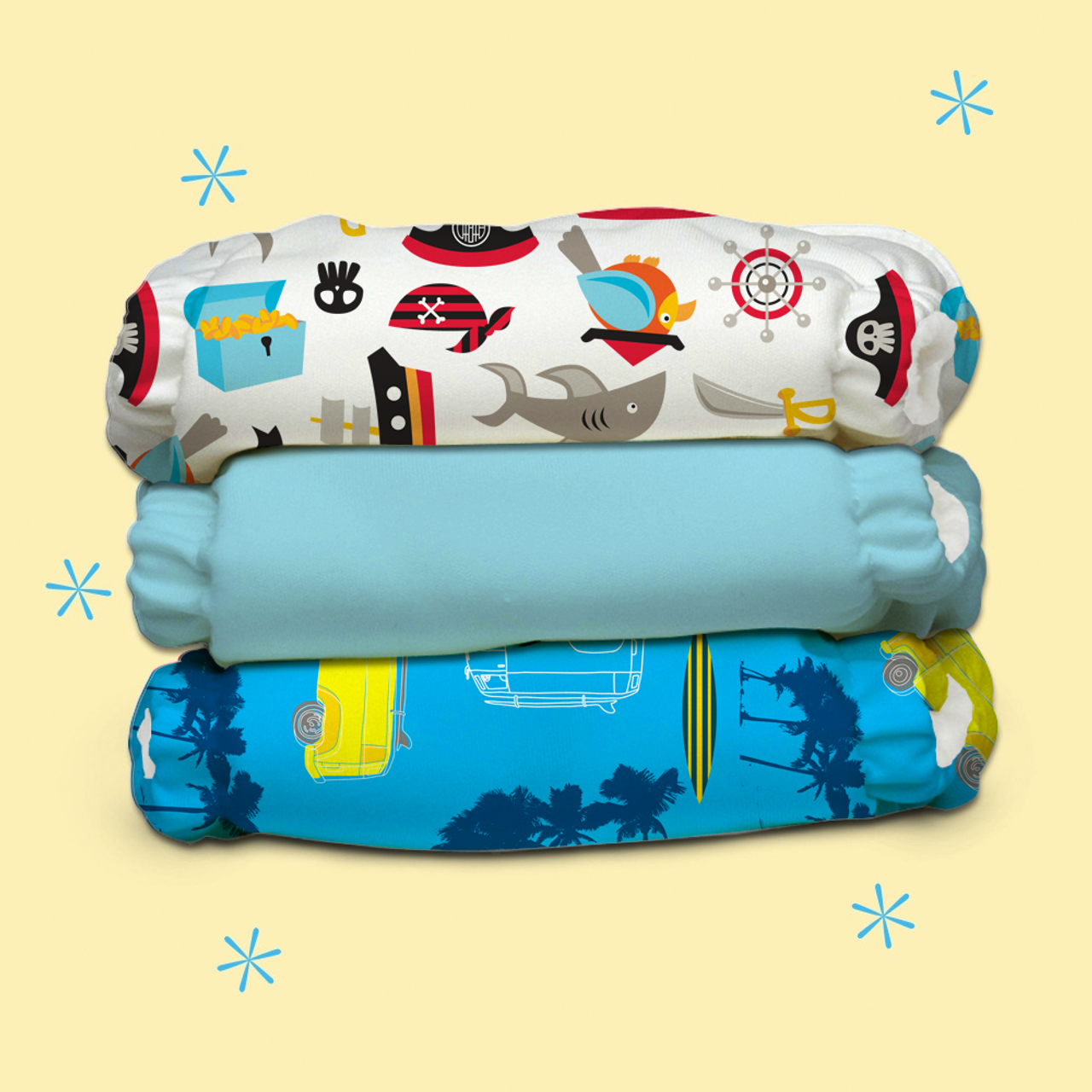 Free Size Cloth Diaper - Super Saver Pack of 3   Oceana New