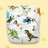 Free Size Cloth Diaper - Dinosaurs