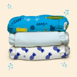 Free Size Cloth Diaper - Super Saver Pack of 3 - Surf Rider
