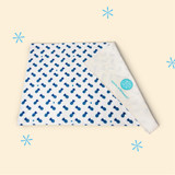 Diaper Changing Pad - Blue Pineapple