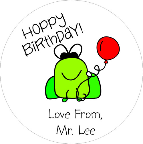 Lollipops Frog Birthday