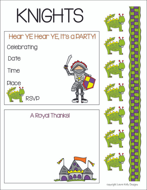Knights Party Printable