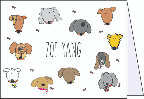 Dogs Dogs Dogs Note Cards - Quantity 50
