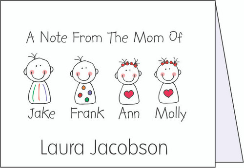 Happy Kids Note Cards - Quantity 50