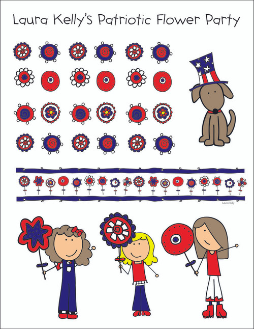 Printable Party - Patriotic Flower Party