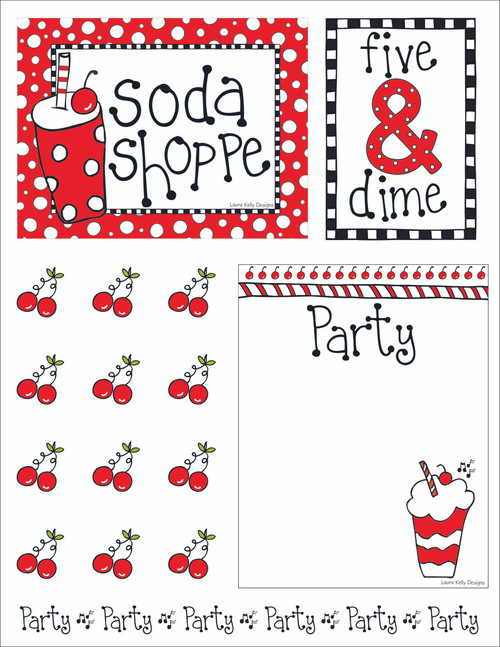 Printable Party - Soda Shoppe