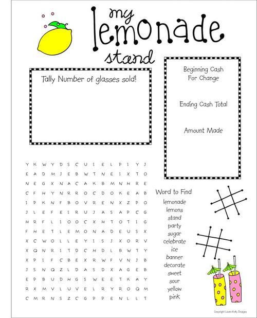 Printable Party - Lemonade Stand