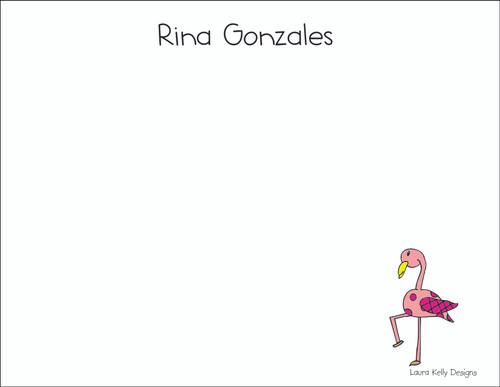 Small Flat Notes - Flamingo
