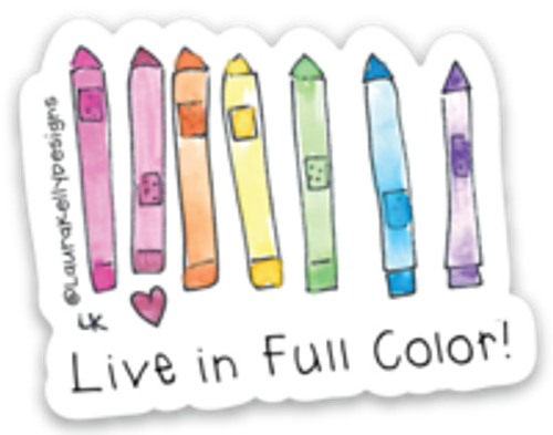Vinyl Sticker - Life in Full Color