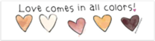 Vinyl Bumper Sticker - Love Comes in All Colors