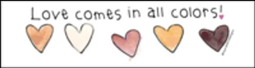 Vinyl Bumper Sticker - Love Comes in All Colors