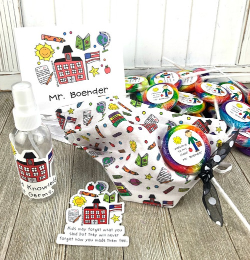 Back to School Teacher Happy Pack with Lollipops