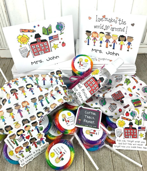 Back to School Teacher Kindness and Happy Bonus Pack with Lollipops