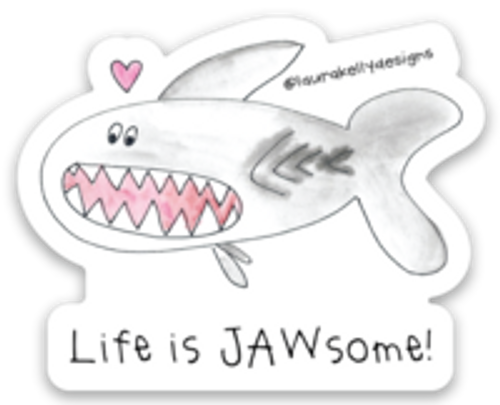 Vinyl Sticker - Shark Jawsome