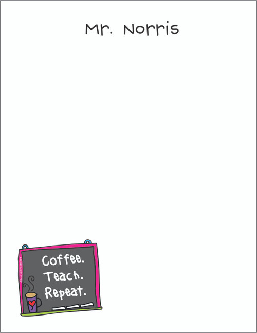 Small Flat Notes - Coffee Chalkboard