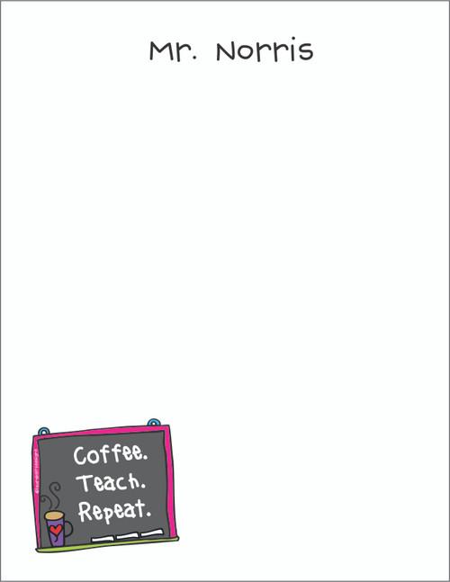 Small Flat Notes - Coffee Chalkboard