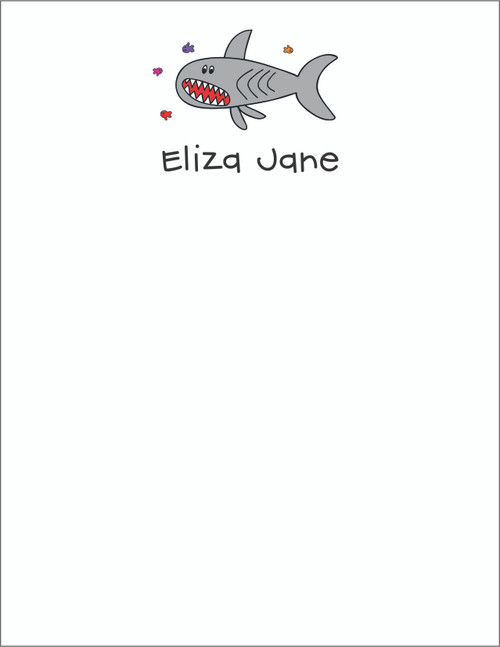 Small Flat Notes - Shark
