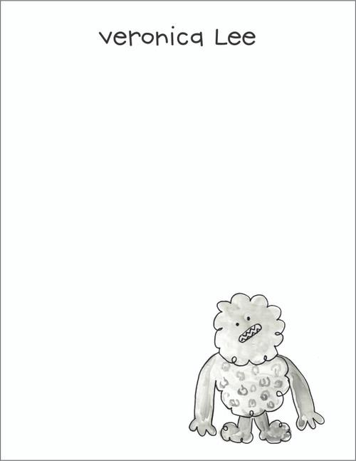 Small Flat Notes - Watercolor Abdominal Snowman