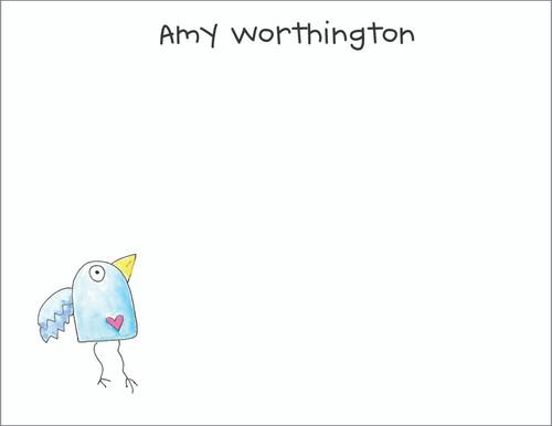 Small Flat Notes - Bird