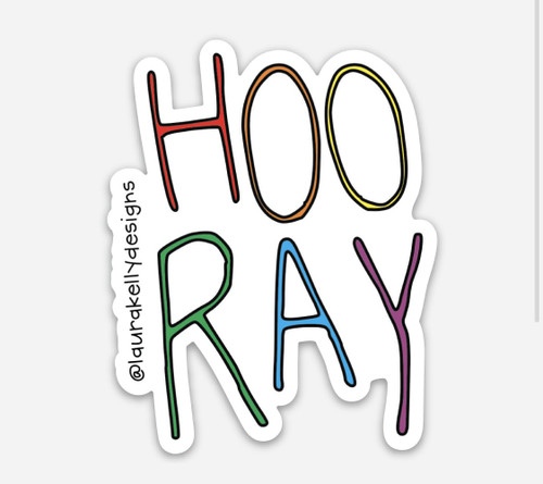 Vinyl Sticker - hooray