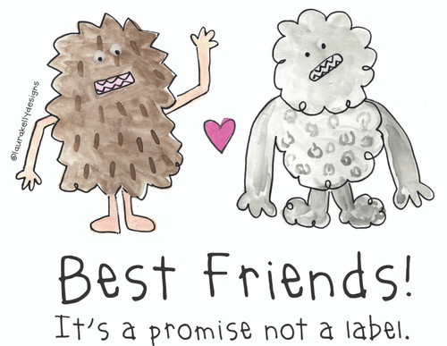 Vinyl Sticker - Best Friends