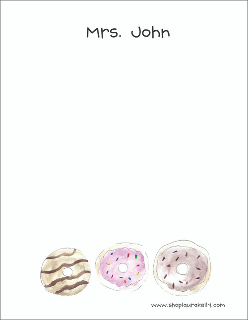 Small Flat Notes - Watercolor Donuts
