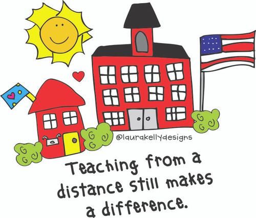 Vinyl Sticker - Distance Teaching