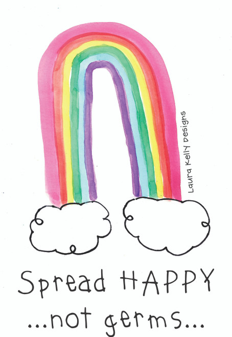 Vinyl Sticker -Spread Happy