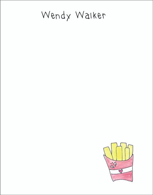 Memo Pad Set - Fries