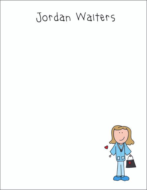 Memo Pad Set - Medical Girl 2
