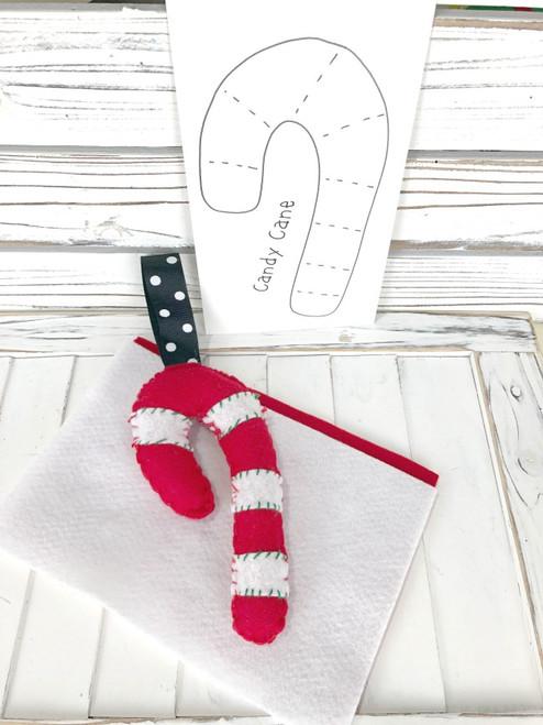 Christmas Feltie Kit - Candy Cane