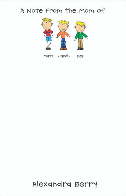 Memo Pad Set - MOM Notes Up to SIX Kids