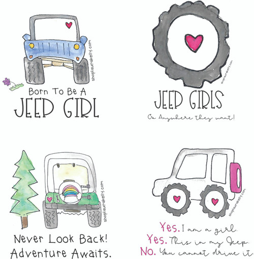 Jeep Girls Vinyl Sticker Set