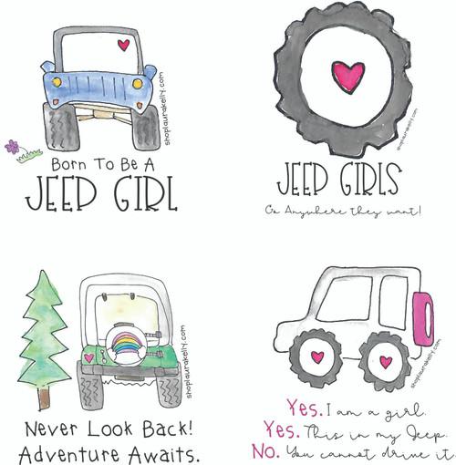 Jeep Girls Vinyl Sticker Set