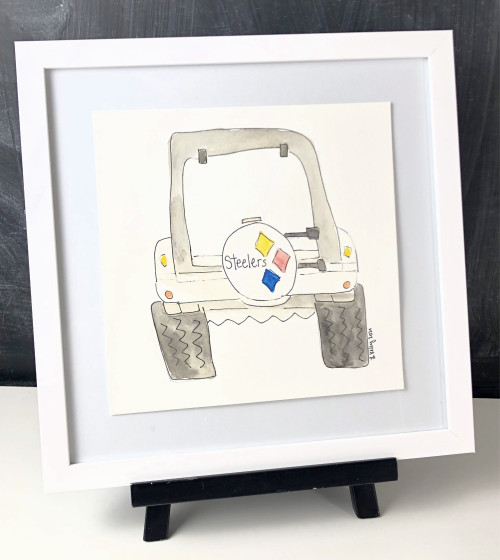 Watercolor Painting Individual Jeep