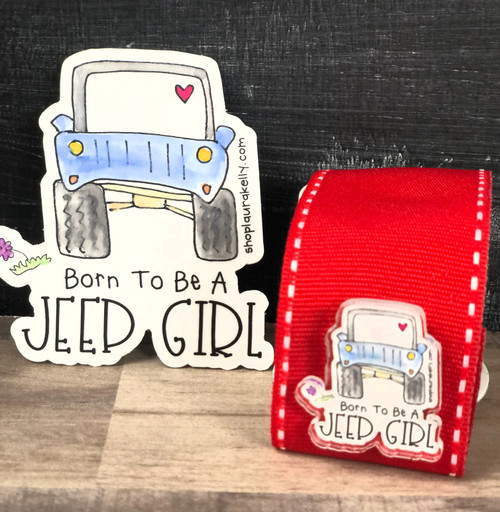 Jeep Girls Acrylic Pin