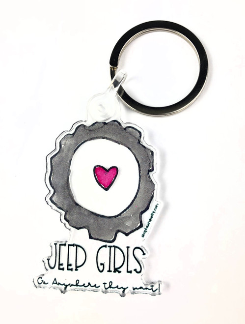 Jeep Girls Key Ring