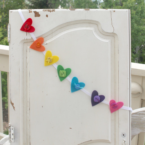 Felt Heart Ribbon Garland Kit