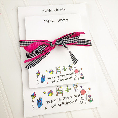 Memo Pad Set - Play is the Work of Childhood