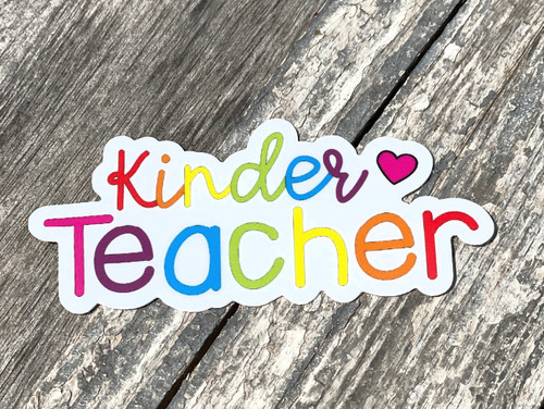 Vinyl Sticker - Kinder Teacher