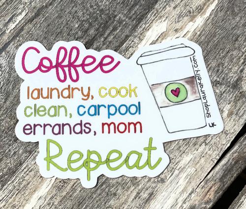 Vinyl Sticker - Coffee Mom