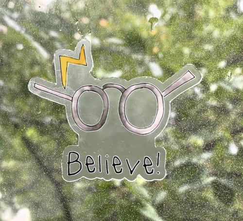 Vinyl Sticker CLEAR - Harry Potter Believe