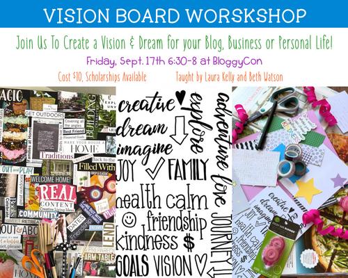 Vision Board Workshop At BloggyCon