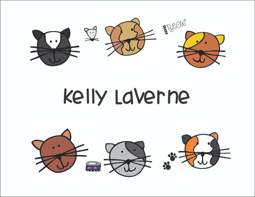 Cats Note Cards - Quantity 50