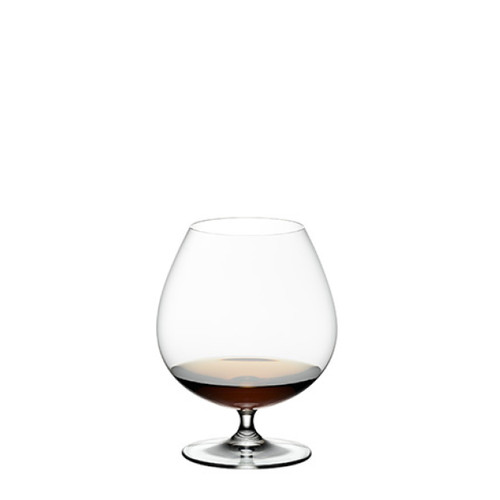Riedel Brandy- Pair, etched