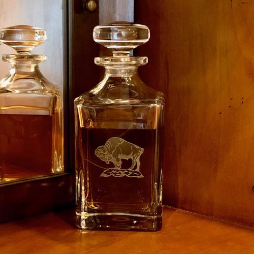 Buffalo Crystal Square Spirits Decanter