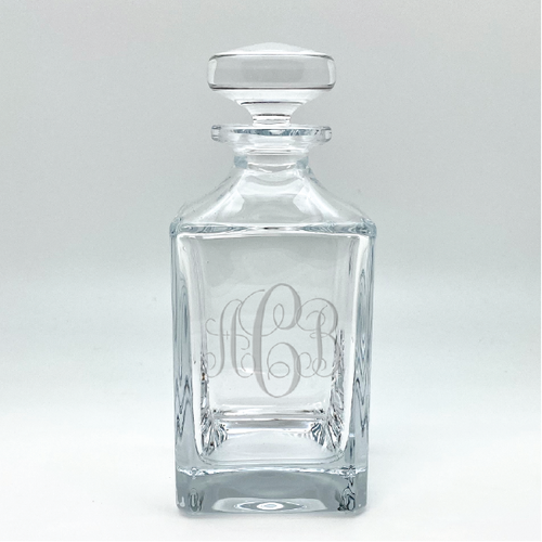 Monogrammed Crystal Liquor Decanter