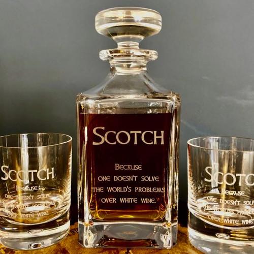 Scotch Decanter Set