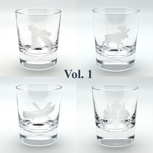 Northern Collection- Crystal Bar Glasses Vol. 1- Mixed set of four