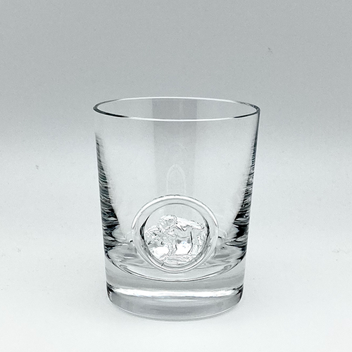 Buffalo Seal - Crystal Whisky Glass Pair